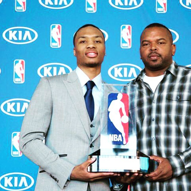 Damian Lillard and his father Houston Lillard during NBA events (Source: Instagram)
