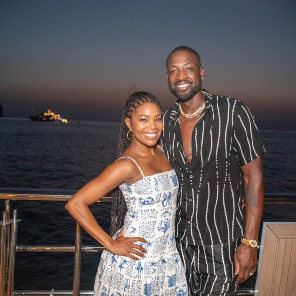 Former NBA star Dwyane Wade along with his wife Gabrielle Union, a famous American actress (Source: Instagram)