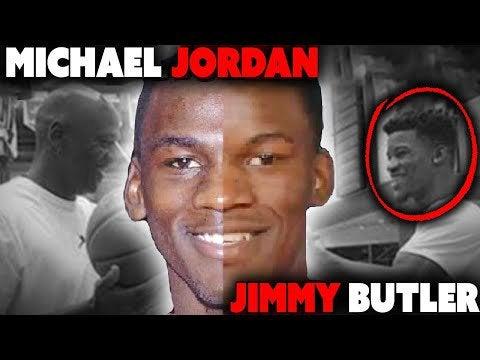 Jimmy Butler and Michael Jordan