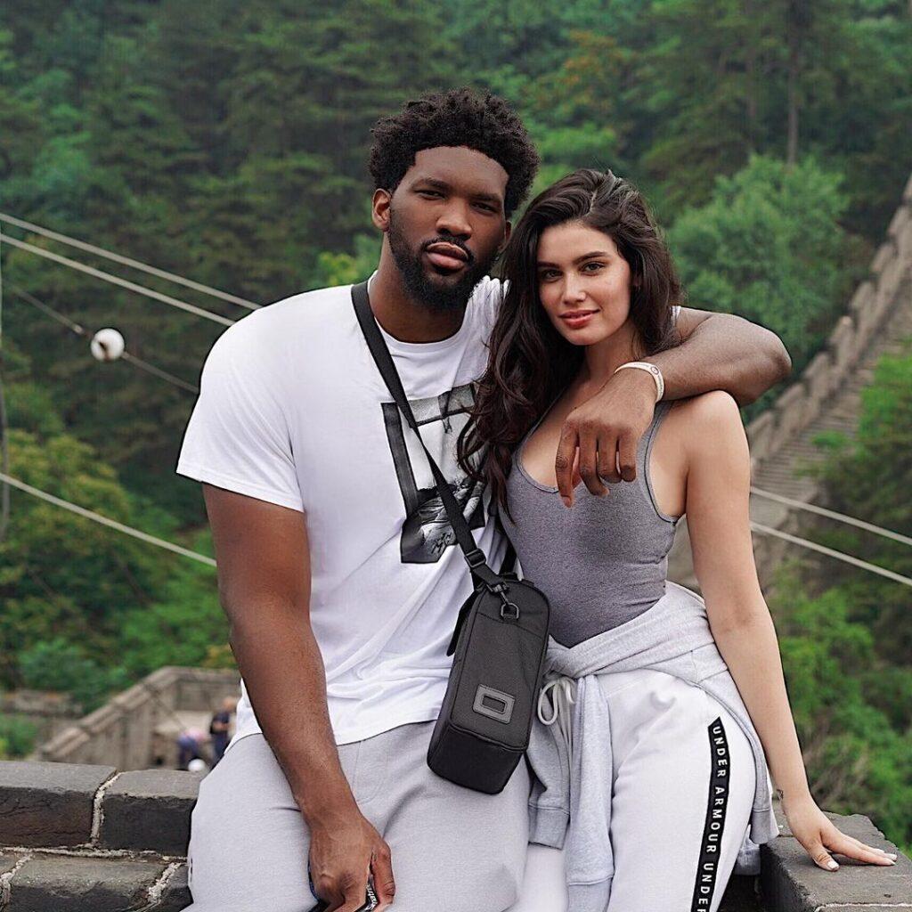 Joel Embiid along with his girlfriend (Source: Instagram)