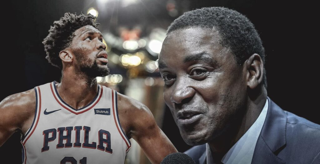 Joel Embiid and his father Thomas Embiid in the frame (Source: ClutchPoints)