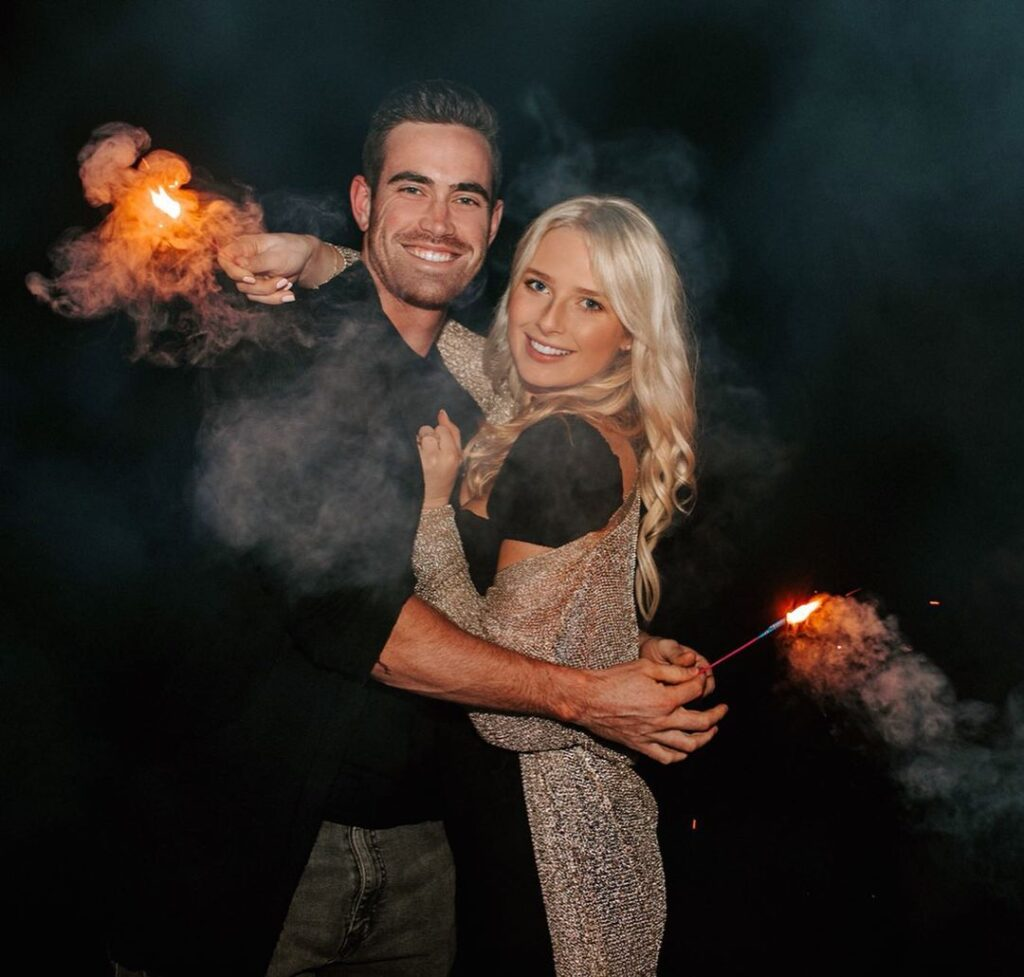 Shane Bieber and his girlfriend Kara Kavajecz celebrating a new year of 2020 (Source: Instagram)