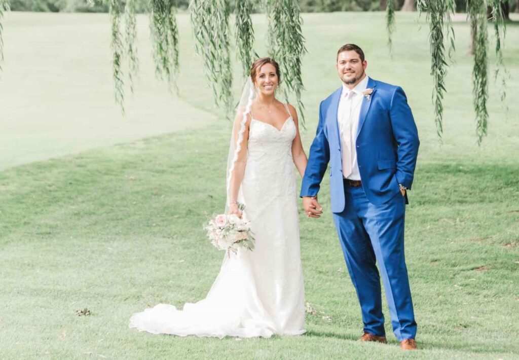 From the wedding of Zack Martin and Morgan.