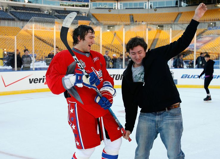 Alex Ovechkin and his brother at the rink (Source: sportster)