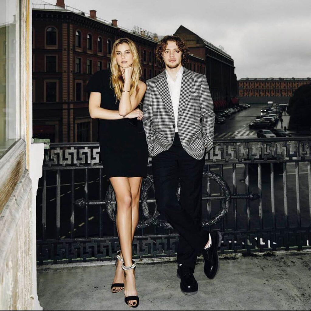 Artemi Panarin along with his fiance Alisa Znarok (Source: Instagram)