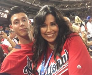 Collin Yelich with his mother Alecia Yelich. (Source : IG @cyelich)