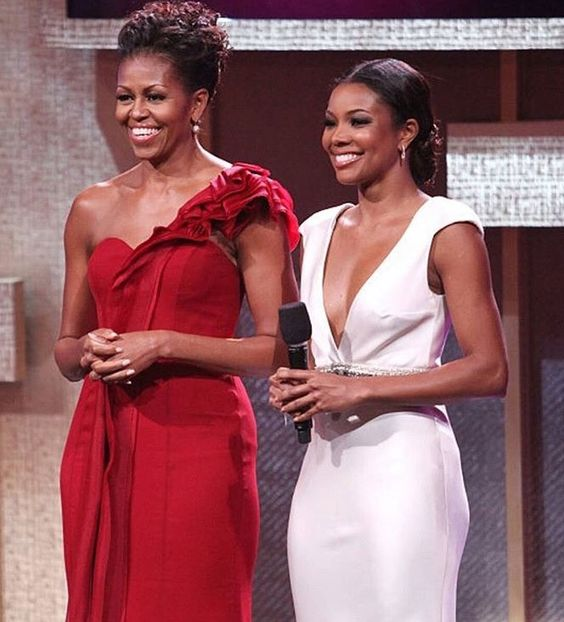 Gabrielle Union along with former American president wife Michelle Obama (Source: pinterest)