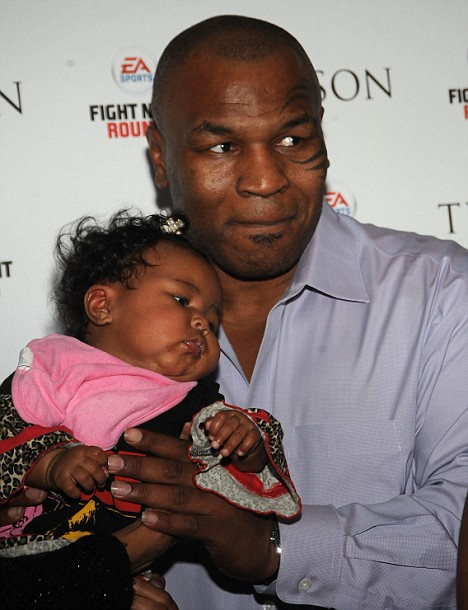 Exodus Tyson with her father